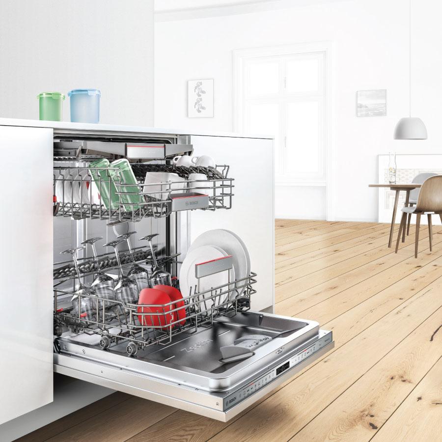 Hướng dẫn sử dụng máy rửa bát Bosch SMS46NI03E: Cách sắp xếp bát đĩa & sử  dụng viên rửa